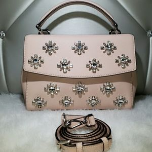 Michael Kors Ava Jewel Leather Satchel